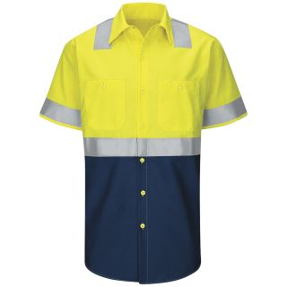 SY24_RipstopTypeR Hi-Visibility Colorblock Ripstop Work Shirt - Type R, Class 2