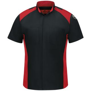 Toyota Short Sleeve Toyota Tech Shirt- BK/RD-Red Kap®