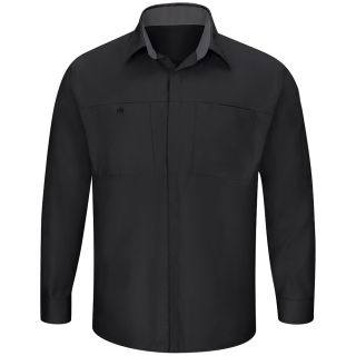 Mens Performance Plus Shop Shirt with OIL BLOK Technology Long Sleeve-