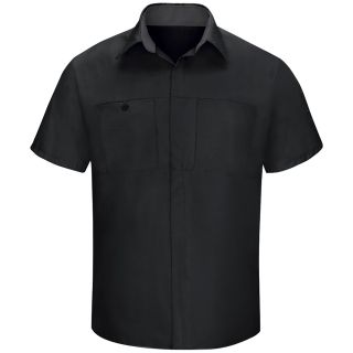 Mens Performance Plus Shop Shirt with OIL BLOK Technology Short Sleeve-