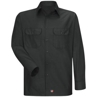 Mens Solid Rip Stop Shirt-Red Kap®