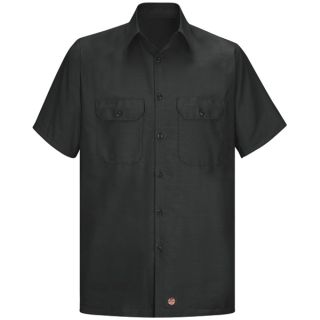 SY60 Mens Solid Rip Stop Shirt