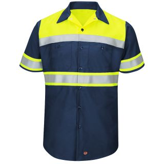 SY80 Hi-Visibility Colorblock Ripstop Work Shirt - Type O, Class 1