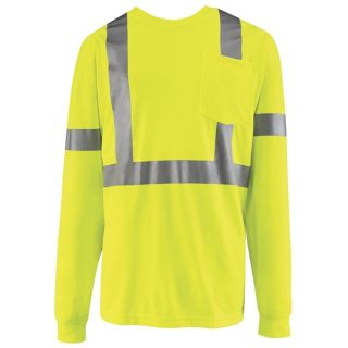 Hi-Visibility Long Sleeve T-Shirt-Red Kap