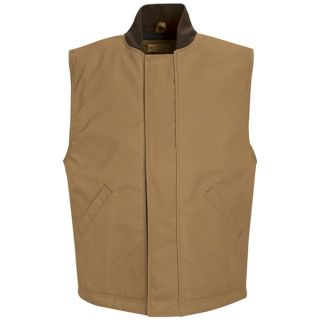 Red Kap® Industrial Outerwear Blended Duck Insulated Vest-Red kap