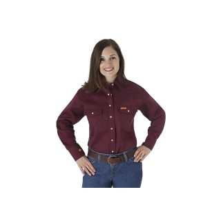 Womens Flame Resistant Long Sleeve Solid-Wrangler® FR