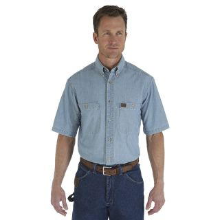 Chambray SS Work Shirt-Wrangler® Riggs Workwear