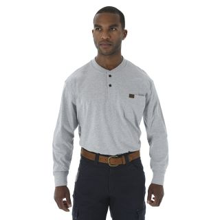 Long Sleeve Henley Shirt-Wrangler® Riggs Workwear