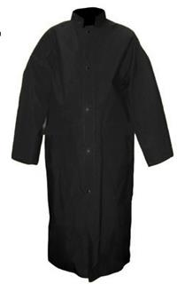 2 Piece Premium Long Coat with Detachable Hood w/ Back Slit - Black-Viking