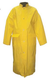 2 Piece Premium Long Coat with Detachable Hood - Yellow