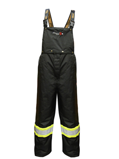125 GSM ThermoMAXX® Insulated Detachable Bib Pants - Black-Viking