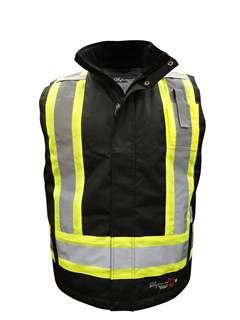 125 GSM ThermoMAXX® Insulated Safety Vest, Front Zipper to Neck-Viking