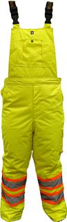 250 GSM ThermoMAXX® Insulated Bib Safety Pants - Fluor. Green-Viking