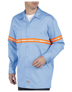 Ls Evis Work Shirt-Hi Vis