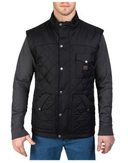 Ranch Quilt Poly Vest-Ranch