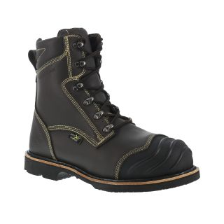 "Mens Composite Toe 8"" Heat Resistant Internal Met Work Boot-Iron Age"