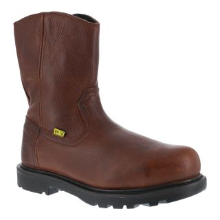 "Mens Composite Toe 10"" Wellington Flex-Met® Internal Met Guard Work Boot with Side Zipper-Iron Age"