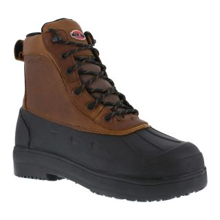 Mens Composite Toe Rubber Vamp and Leather Shaft Waterproof Work Boot-Iron Age