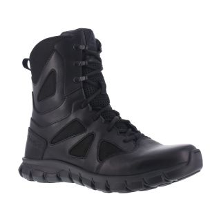 "Womens Soft Toe 8"" Tactical Waterproof Boot with Side Zipper-Reebok"