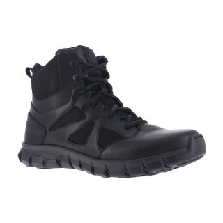 "Mens Soft Toe 6"" Tactical Boot with Side Zipper-"