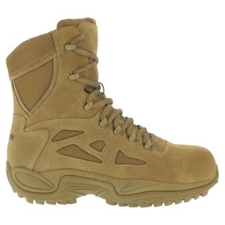 """Womens Composite Toe Stealth 8"""" Boot with Side Zipper-Reebok"""