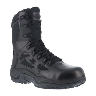 "Mens Soft Toe Stealth 8"" Boot with Side Zipper-Reebok"