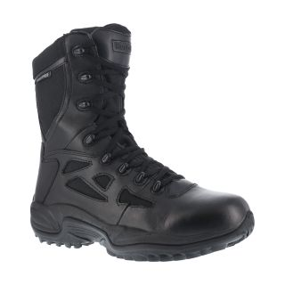"Mens Soft Toe Stealth 8"" Waterproof Boot with Side Zipper-Reebok"