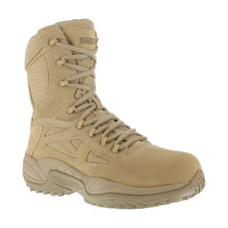"""RB8895 Mens Soft Toe Stealth 8"""" Boot with Side Zipper-Reebok"""