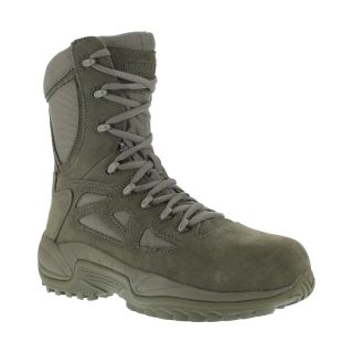 "RB8990 Mens Composite Toe Stealth 8"" Boot with Side Zipper-Reebok"