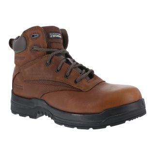 "Mens Composite Toe 6"" Plain Toe Waterproof Work Boot-Rockport Works"