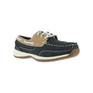 Womens Steel Toe 3 Eye Tie Boat Shoe-Rockport Works