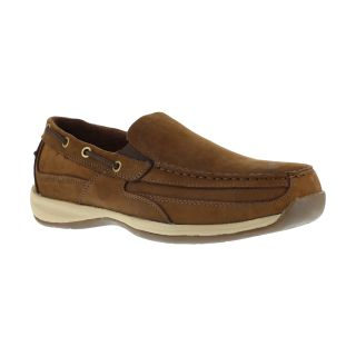 Mens Steel Toe Slip On Boat Shoe-Rockport Works