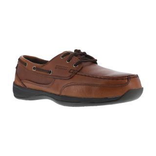 RK6745 Mens Steel Toe 3 Eye Tie Boat Shoe-Rockport Works