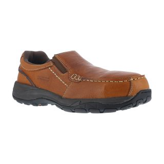 Mens Composite Toe Twin Gore Moc Toe Casual Slip One-Rockport Works