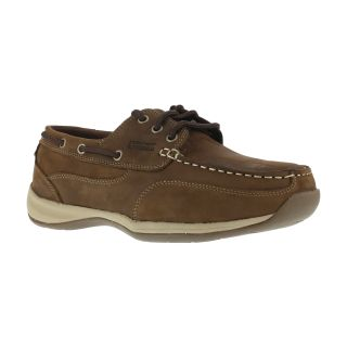 RK676 Womens Steel Toe 3 Eye Tie Boat Shoe-Rockport Works