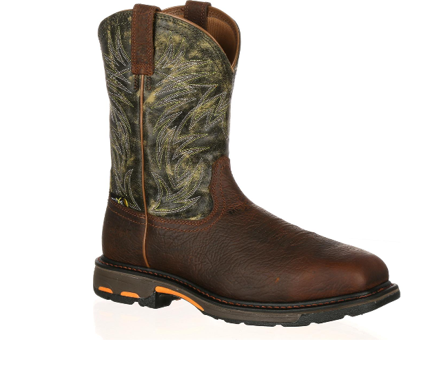 Ariat - Men's Green Met Guard Composite Toe Workhog Boots-Ariat