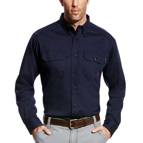 Ariat - FR Button-Up Solid Work Shirt-Ariat