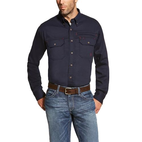 Ariat - FR Button-up Solid Vent Work Shirt-Ariat