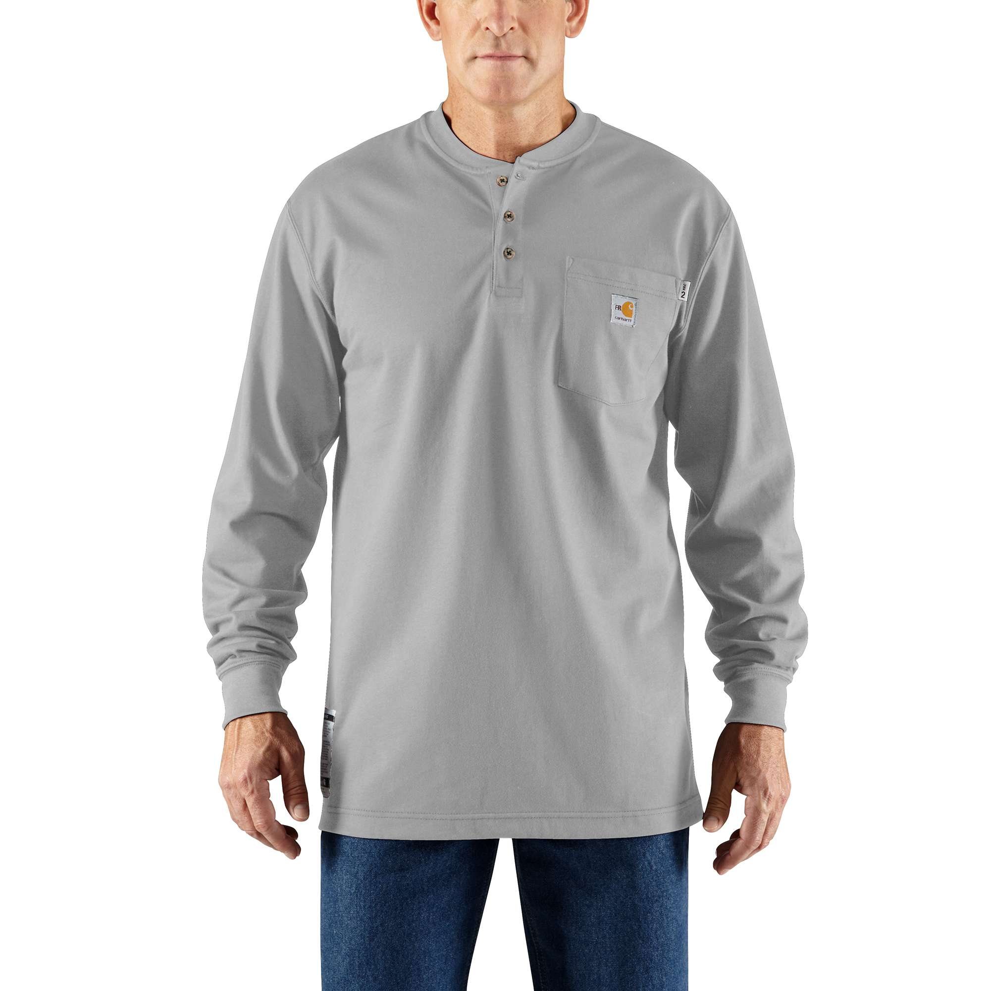 Carhartt - Mens Flame-Resistant Force Cotton Long Sleeve Henley-Carhartt