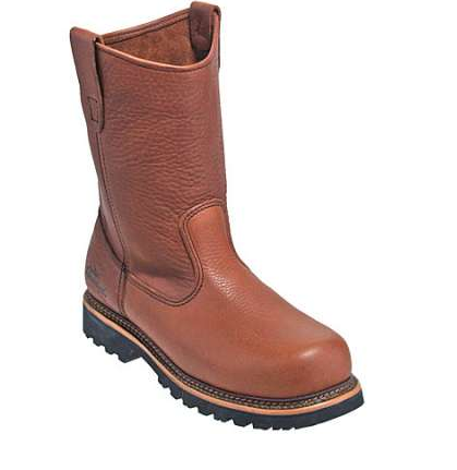 Thorogood - Wellington Semi-Oblique Safety Toe Brown Boot-Thorogood Shoes