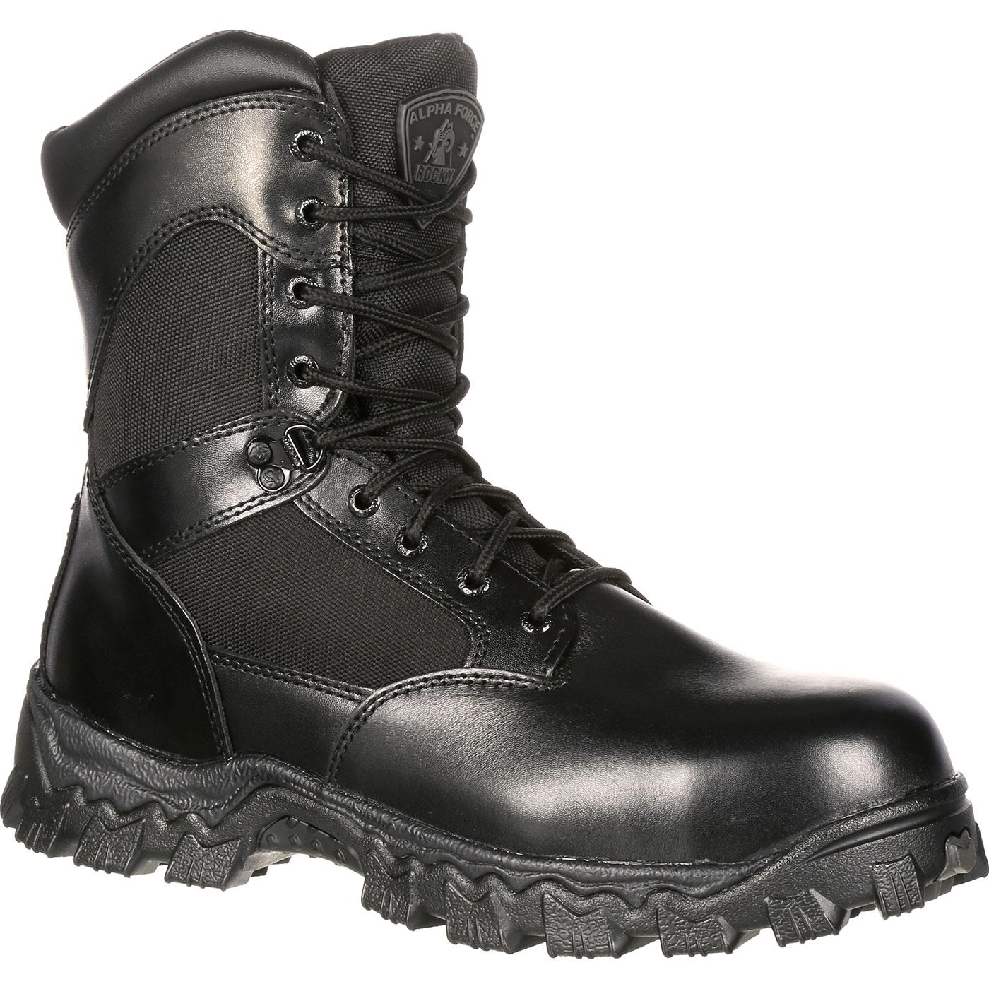 Rocky - AlphaForce Zipper Waterproof Duty Boot-Rocky Boots