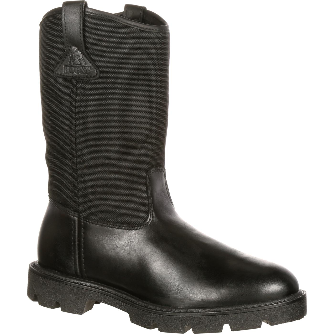 Warden Pull-On Wellington Duty Boot-Rocky Boots