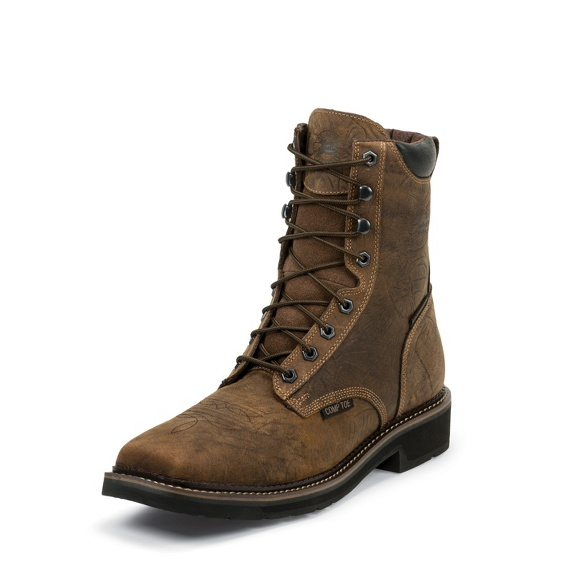 Justin - Driller Waterproof Comp Toe-Justin Boots