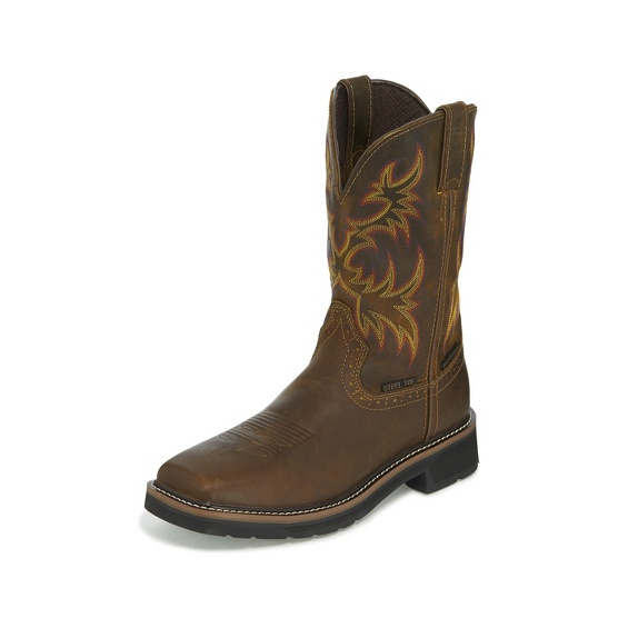 Justin - Driller Waterproof Steel Toe-Justin Boots