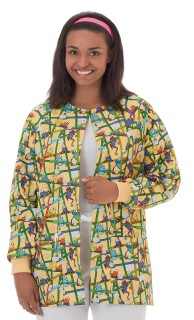 "Bio Print Ladies 30"" Warm Up Jacket"