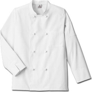 Five Star Chef Apparel Unisex Knot Button Chef Coat