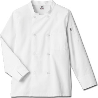 Five Star Chef Apparel Unisex Long Sleeve Moisture Wicking Mesh Back Chef Coat