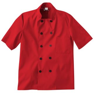 Five Star Chef Apparel Men's Short Sleeve Chef Jacket