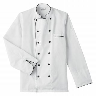 Five Star Executive Chef Jacket with Black Trim