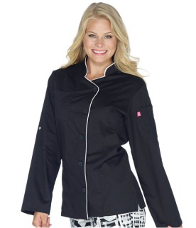 Five Star Chef Apparel Women's Long Sleeve Stretch Executive Chef Coat